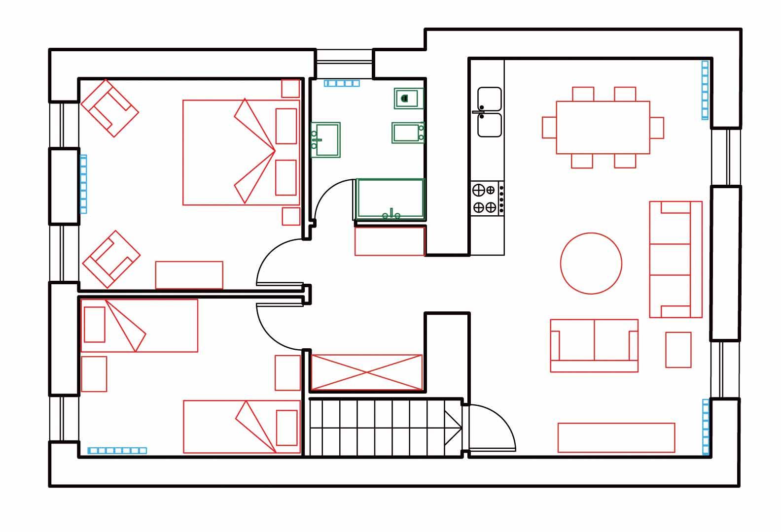 Appartamenti camere monaco di mezzo - Planimetria camera da letto ...
